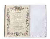 Personalized To My Daughter (From the Bride's Mother) Wedding Handkerchief - BH110