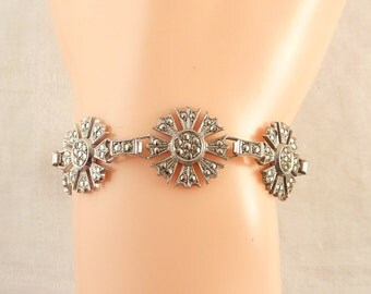 Antique Art Deco Sterling and Marcasite Bracelet