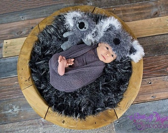 Newborn Koala Set Koala Hat and Koala Stuffy Newborn Photo Prop Animal Hats Made To Order- ships from Australia