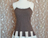 Women's Cashmere Luxury Lingerie Steampunk Sleepwear Lounge Soft Sexy Camisole Ruffle Lace Upcycled OOAK Unique One Size Fits Many