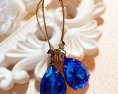 September Birthstone Earrings - Sapphire - Best Gift - Victorian - SOMERSET Sapphire