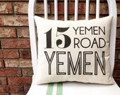 Friends Quote Pillow- 15 Yemen Road, Yemen
