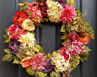 SUMMER Wreaths, Front Door Spring Wreaths, SPRING WREATHS, Fall Wreath, Summer Wreaths, Fall Wreaths, Wreath for Spring, Front Door Decor