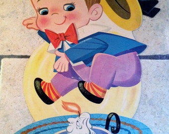 Jack, Be Nimble Nursery Rhyme Decorative Poster