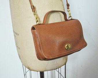 Brown CASINO Coach Bag / leather Purse