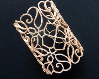 Rose Gold Bridal bracelet, Crystal Wedding bracelet, Wedding jewelry, Bridal bracelet, Statement bracelet, Vintage style bracelet, Bangle