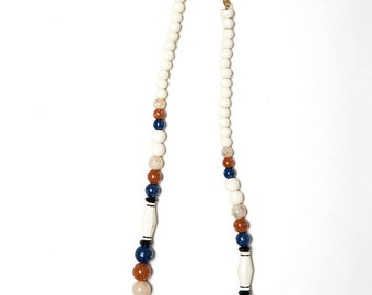 The Native White Beaded Aztec Necklace