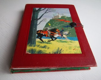 "Watercolor Sketchbook ""Folklore & Fairy Tales"" Upcycled Vintage Book Journal with 300g watercolor and multimedia cotton paper"