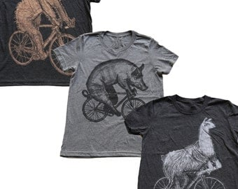 Kids Animal on Bicycle T Shirt Pack- Funny Collection
