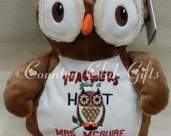 Personalized Teacher gift, best baby gift ever, plush, stuffed animal, owl, Embroider Buddy, keepsake, subway art, Original Embroider Buddy