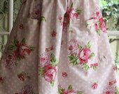 HALF PRICE. 1950' s  Styled Gathered Skirt . Roses and Polka Dots