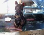 vintage dog figurine brown boxer