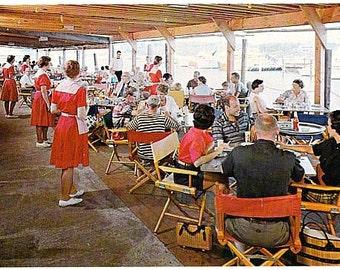 Vintage Cape Cod Postcard - Thompson's Clam Bar, Harwich Port (Unused)