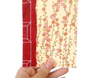 Cherry Blossom Notebook, Japanese Stab Bound Notebook, Yuzen Notebook, Chiyogami Notebook, Gift for a Writer