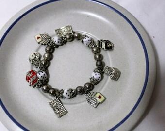 Vintage Casino Charm Bracelet