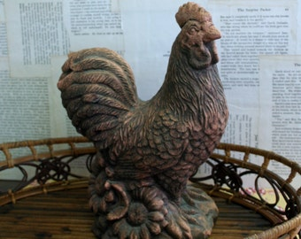 Beautiful French Country Farmhouse Concrete Rooster