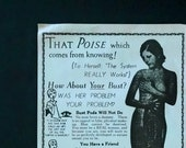 Vintage 1970s Poster of 1930s Be A Real Woman Advertisement