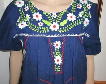 Womens Dress 70's Ethnic Embroidered Handmade Boho Festival Maxi Dress