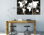 Rustic World Map Print - Large Vintage Map Wall Art - Kids Room Decor - Office Art Decor