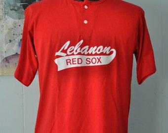 Boston Red Sox Vintage TShirt Lebanon CT Little League Softball 90s Number 12 Tee LARGE