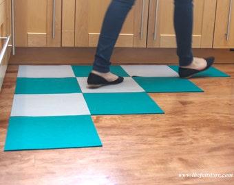 Designer Wool Felt Rug Tiles