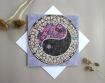 Ying Yang Spiritual Gift Card ~ Greeting Card ~ Blank Pages ~  Yin Yang Gift Card ~ All Occasions Card ~ Note Card ~ Thinking of You Card