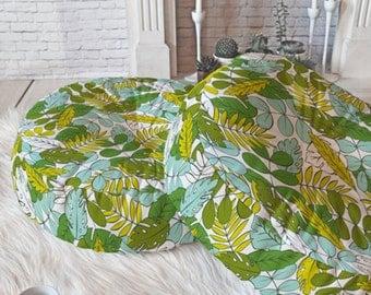 Tropical Floor Pillow //  Round & Square // Floor Cushion // Dorm Decor // Home Decor // Modern Tropics Design // Green // Leaves // Foliage