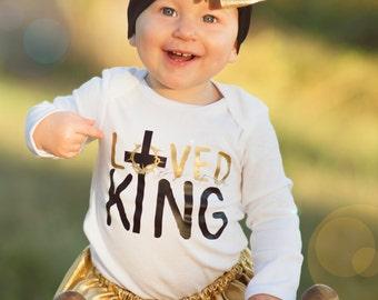 Loved by the King Infant Onesie, Bodysuit, Christian