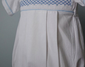 Made to Order Hand Smocked Boys Bubble Suit