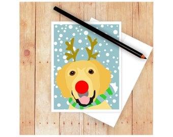 Golden Retriever, Christmas Card Set, Dog Cards, Seasons Greetings, Holiday Cards, Dog Christmas Cards, Dog Art, Dog Christmas, Let It Snow