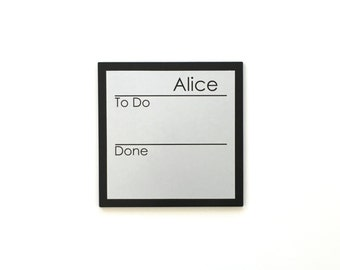 Chore Chart  - 9 x 9 magnetic, personalized chore board