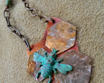 The Art of Bees - Copper Pendant