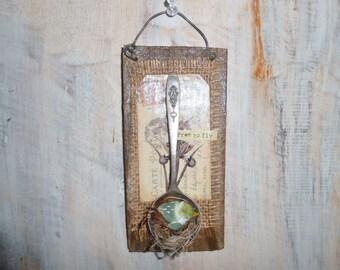 Upcycled Embelished Wood Sign