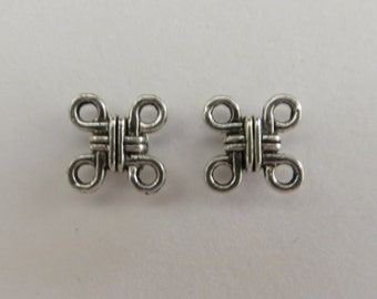 Silver Knot Magnetic Earrings