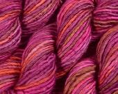 SALE! Hand Dyed Yarn - Bulky Weight Single Ply Superwash Merino Wool / Nylon Yarn - Merlot Multi - Knitting Yarn, Super Bulky - Limited Ed.