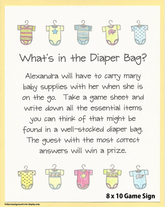 diaper bag baby shower game great way to stock mom 39 s diaper bag