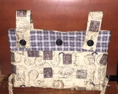 Road Less Traveled Handmade  Quilted Walker or Wheelchair Bag - Ready to Ship!