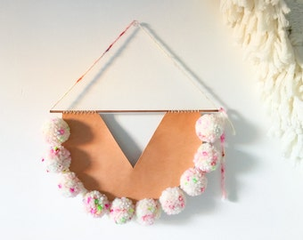 Wall hanging - Lastnight Candy - wool and leather by Soledad Proaño