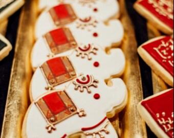 Mehndi Henna Elephant Cookies - 12 cookies