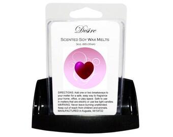 DESIRE Soy Melts - Wax Tarts - Soy Tarts - Candle Tarts - Melting Tart - Scented Tart - Tart Melt - Wax Melt - Clamshell - Dye Free