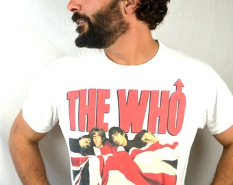 Vintage The Who 1989 80s 1980s Rock Tour Tee Shirt - The Kids are Alright
