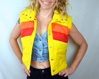 Vintage 1970s 80s Puffy Ski Vest - XS