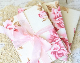 Set of 3 Shabby Chic Fabric Gift Card Holders
