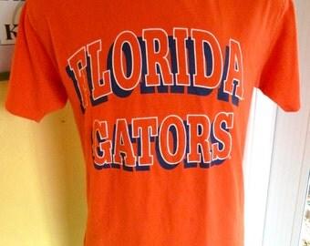 Florida Gators 1980s vintage tee - orange size large