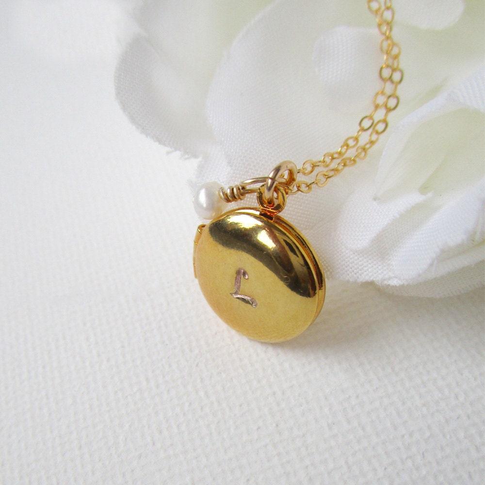 tiny locket gold locket necklace personalized locket pet. Black Bedroom Furniture Sets. Home Design Ideas
