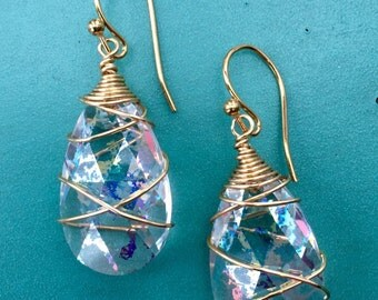 Clear Patina Earrings