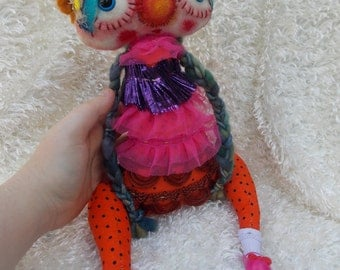 Ruby a Handmade OOAK Art Doll Ratty Tatty Monster