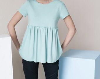 Summer blouse | Cotton blouse | Mint blouse | LeMuse summer blouse