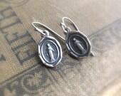 Miraculous Medal Earrings, Catholic Earrings, Dangle Earrings, Virgin Mary