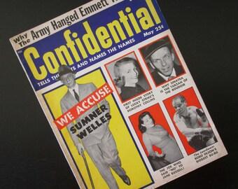 Confidential Magazine Vintage Gossip Periodical Bobo Olson, Jane Russell, Frank Sinatra